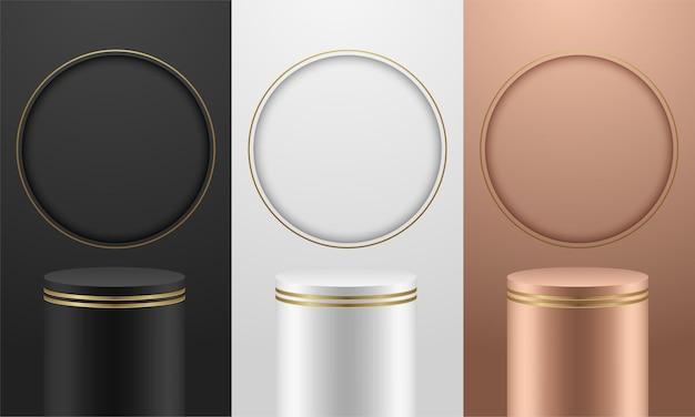 Premium minimal abstrakcja podium luksusowy kolor