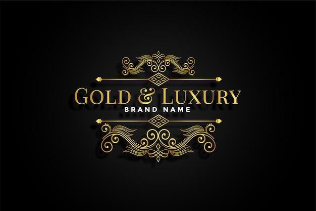 Premium złota ozdobna marka kwiatów