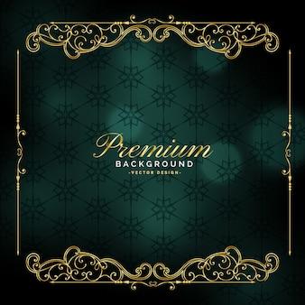 Premium złoty rama tło