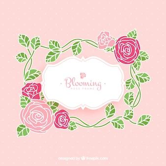 Pretty ramki z dekoracyjne ró? e