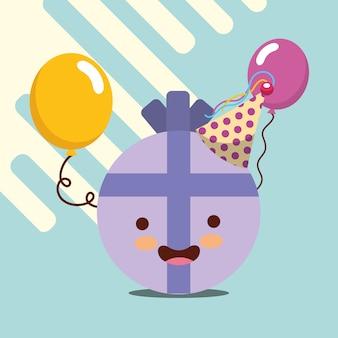Prezent balony wstążki