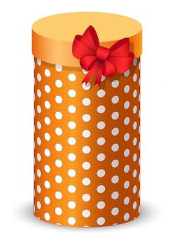 Prezent na urodziny lub rocznicę, prezent z kokardą