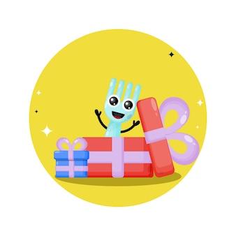 Prezent urodzinowy widelec urocza maskotka postaci