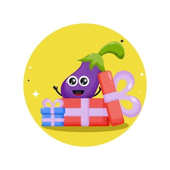 Prezent urodzinowy z bakłażana urocza maskotka postaci