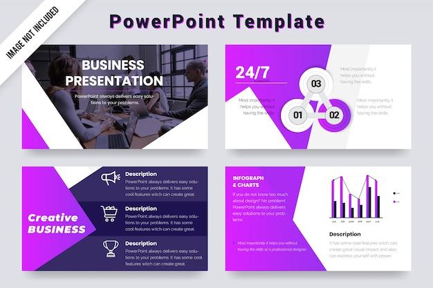 Prezentacja agencji creative business slajdy szablon projektu