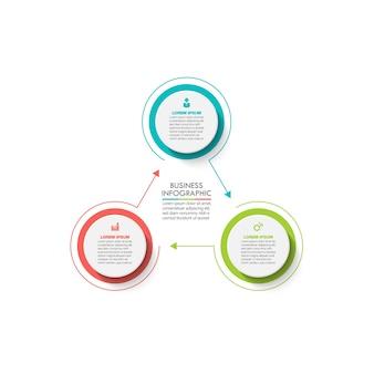 Prezentacja biznes infographic szablon koło