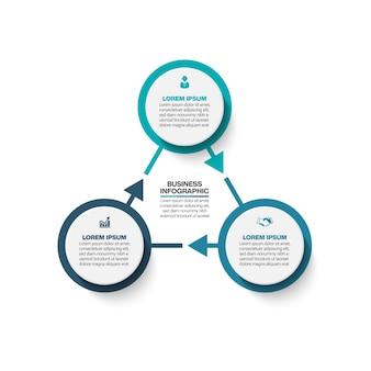 Prezentacja biznes infographic szablon z opcjami.