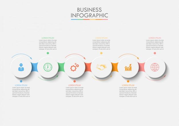Prezentacja biznes infographic szablon