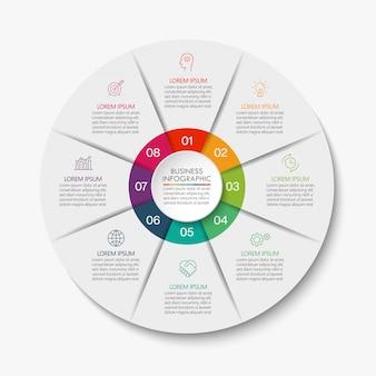 Prezentacja biznes koło infographic szablon