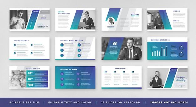Prezentacja biznesowa broszura przewodnik projekt lub szablon slajdu lub suwak przewodnika sprzedaży