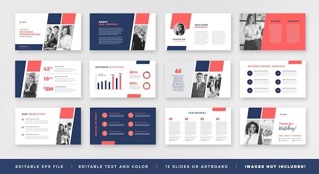 Prezentacja biznesowa broszura przewodnik projekt lub szablon slajdu prezentacji lub suwak przewodnika sprzedaży