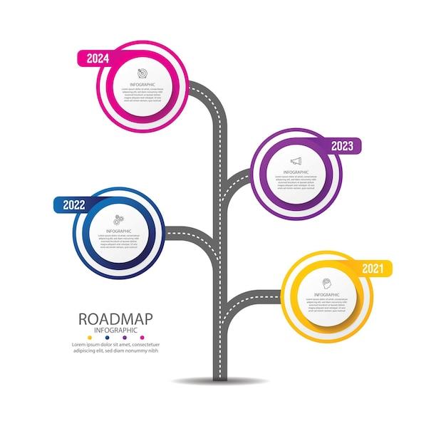 Prezentacja biznesowa infografika kolorowy szablon