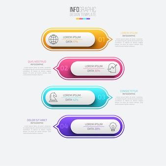 Prezentacja biznesowa infografika szablon projektu
