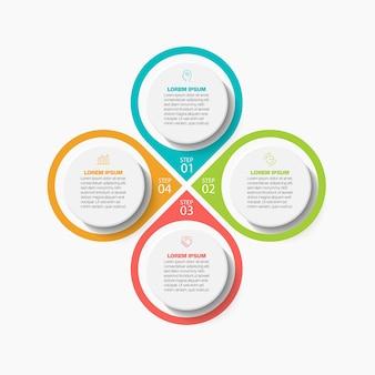 Prezentacja biznesowa infografika szablon z 4 opcjami.