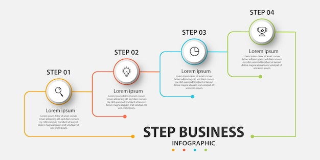 Prezentacja biznesowa infografika szablon z 5 opcjami.