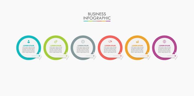 Prezentacja biznesowa infografika szablon z opcjami.