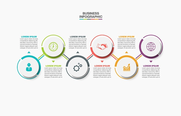 Prezentacja biznesowa infografika szablon z opcjami