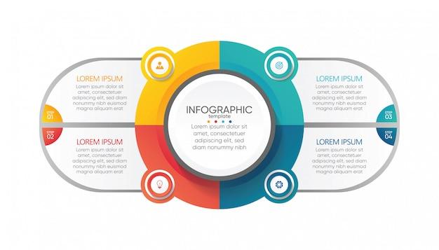 Prezentacja biznesowa infografika szablon