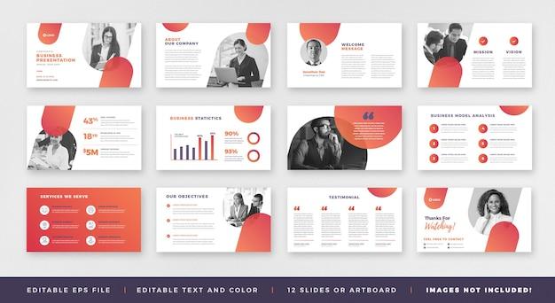 Prezentacja biznesowa przewodnik po broszurze projekt lub szablon prezentacji prezentacji biznesowej lub suwak przewodnika po sprzedaży