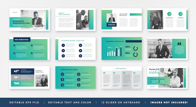 Prezentacja biznesowa, szablon slajdu