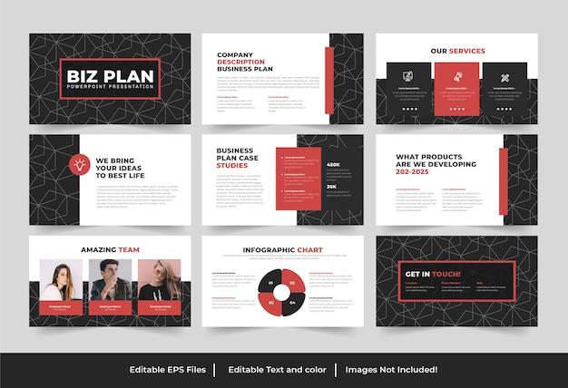 Prezentacja biznesplanu projekt lub prezentacja biznesplanu powerpoint design