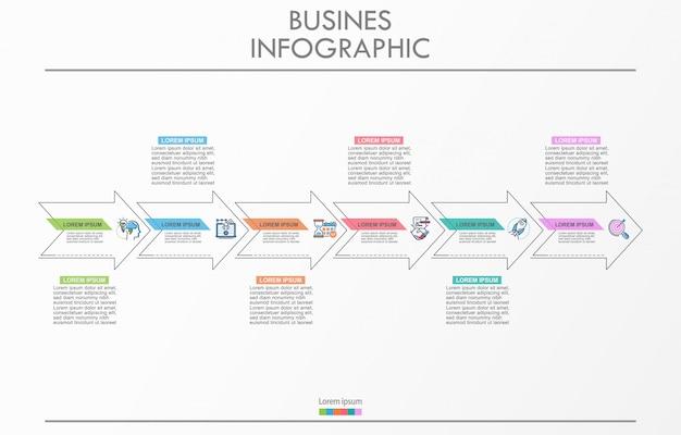 Prezentacja biznesu infografika szablon z 6 opcjami.