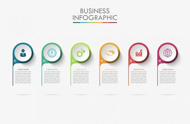 Prezentacja biznesu infografika szablon
