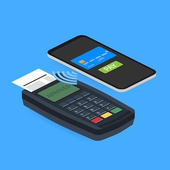 Prezentacja infografiki koncepcja płatności mobilnych.