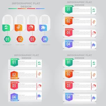 Prezentacja kreatywna koncepcja infografiki