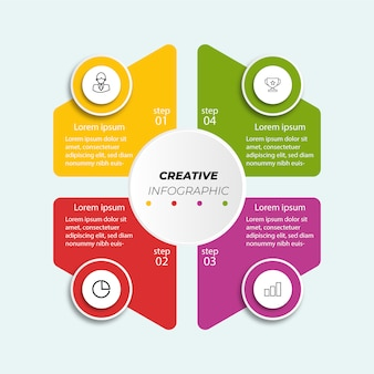 Prezentacja kroków infograficznych