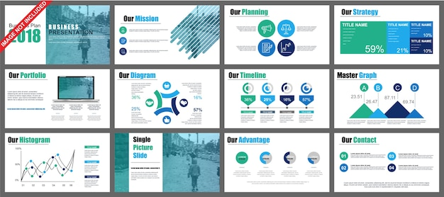 Prezentacja powerpoint firmy slajdy szablony z elementów infographic.