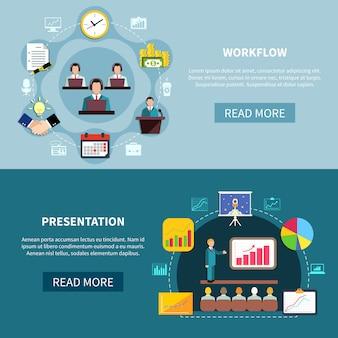 Prezentacja prezentacji biznesowych banery