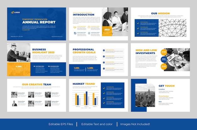 Prezentacja rocznego raportu biznesowego slajd projekt