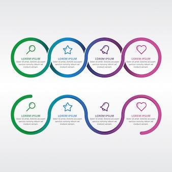 Prezentacja sieci koło elementu infographic