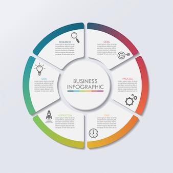 Prezentacja szablon infografikę koło biznesu