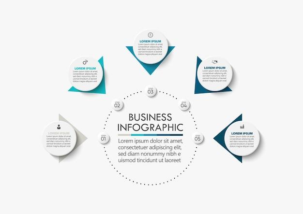 Prezentacja szablon infografiki koło biznesu