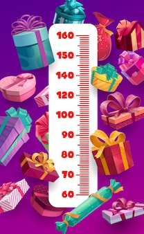 Prezenty świąteczne i urodzinowe wykres wzrostu dla dzieci