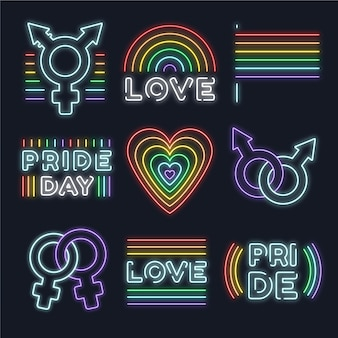 Pride day neony znaki