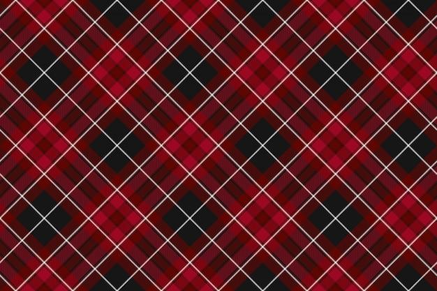 Pride of wales tekstury tkaniny czerwony kratę bez szwu