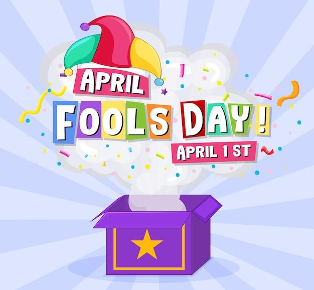Prima aprilis logo czcionki z kapeluszem jester