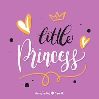 Princess kaligraficzna ręka rysujący tło