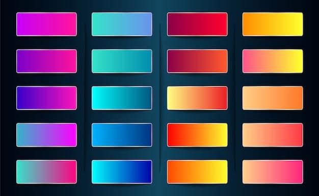 Próbka gradientu i paleta kolorów