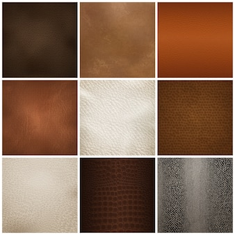 Próbki tekstury skóry realistyczny zestaw