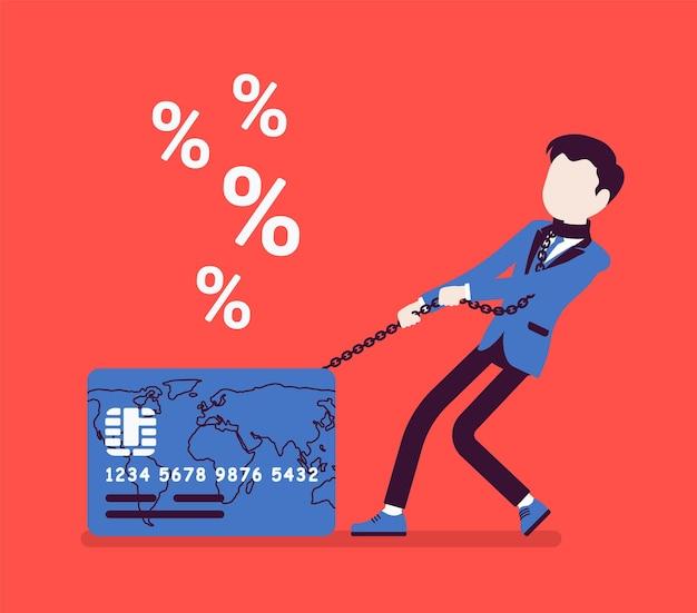 Problem ze stopą procentową posiadacza karty kredytowej dla mężczyzny