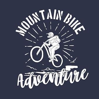 Próby na rowerze górskim. godło sportowe