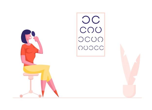 Procedura badania wzroku w klinice