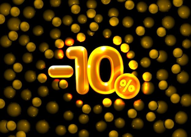 Procent zniżki na kompozycję kreatywną d mega symbol sprzedaży z wyprzedażami przedmiotów dekoracyjnych