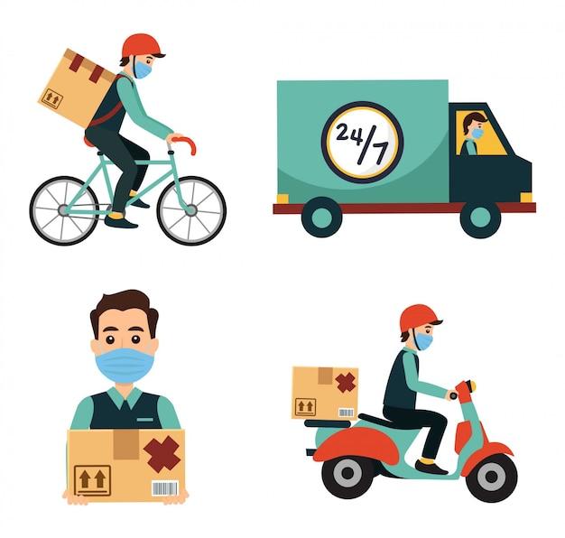 Proces dostawy opakowań i usługi