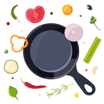 Proces gotowania z elementami żywności