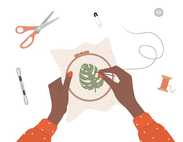 Proces haftu. warsztat, robótki ręczne i dziewiarskie.
